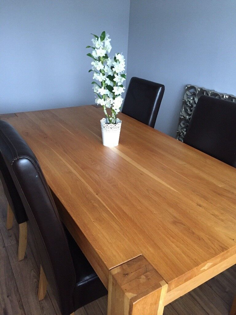 6 Seater Barker And Stonehouse Oak Dining Table