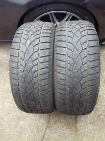 Dunlop Winter Sport 3D tyres x2, 245 45 18 RSC 6mm