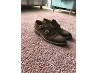 Russell & Bromley Double Monk Suede Shoes - UK Size 7