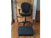 Office chair and foot rest