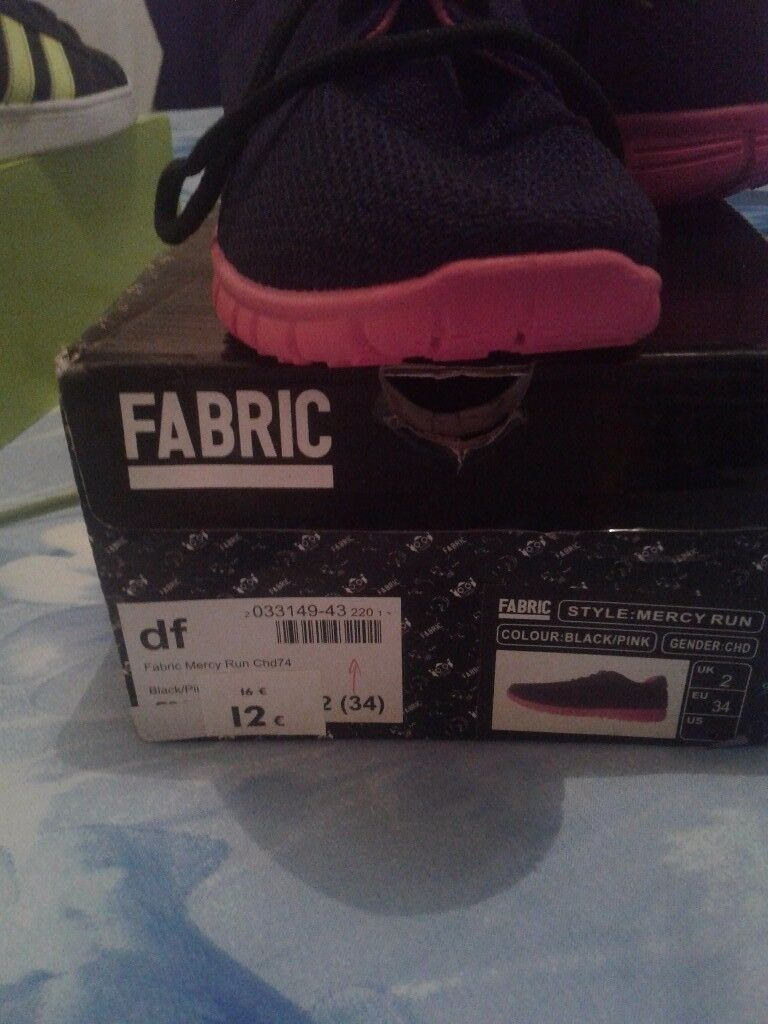 Size 12 girls fabric trainers