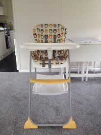 Joie high chair excellent condition