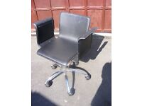 Computer / Office Chair Black Faux Leather