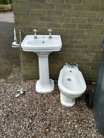 Victorian style,shower,wash hand basin and bidet