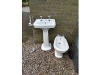 Victorian style,shower,wash hand basin and bidet