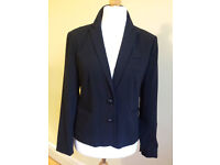 Smart black tailored GAP jacket. Good quality, made from wool crepe and fully lined Size 12