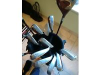 Full set of Acer titan pro golf clubs and bag