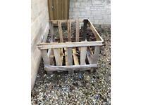 Wooden pallet crates x2