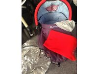 Quinny Buzz Travel System £150 inc buggy frame, seat, Pram, car seat base, rain covers & extras