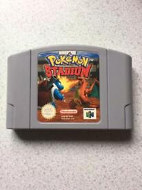 Nintendo 64 Pokemon stadium game. N64