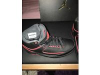 Nike Air Jordon retro 2 black and red