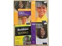 NEW GCSE 9-1 AQA RS RELIGIOUS STUDIES REVISION AND PRACTICE TEXTBOOKS AND WORKBOOKS