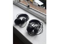 2 pairs of Tascam TH-02 headphones