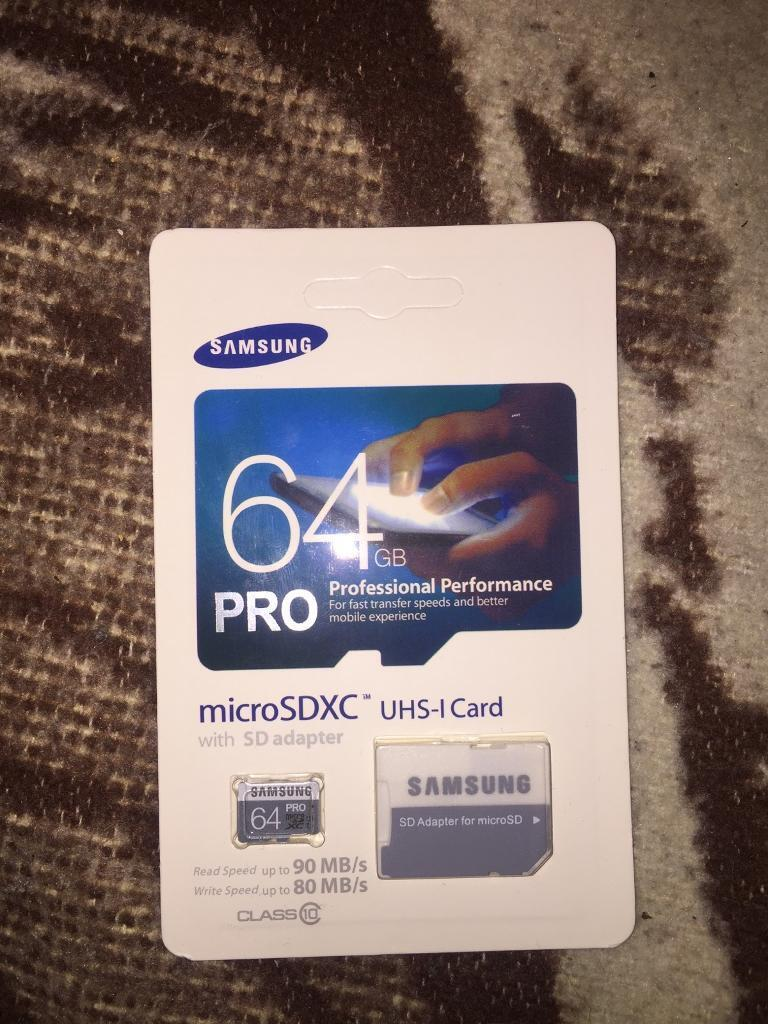 Samsung 64gb Micro Sd Sdxc Card With Adapter In Stoke Newington 64 Gb Pro