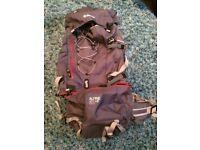Blacks Alpine 65+ litre rucksack - used once