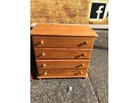 Pine wood chest of drawers £45