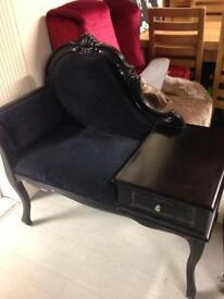 Black telephone table £100
