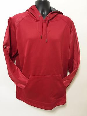 Majestic Mens Fashion Hoodie Red NWT Sz M Subtle Pattern Hip Hop Fleece Jacket