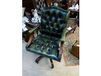Leather chesterfield computer chair