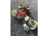 Sylvanian Family Bike with mum and baby