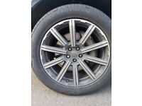"Set of 4 Genuine Audi Q7 4M 2016> 20"" 20 x 9J '10-spoke star' alloy wheels with Pirelli PZero tyres"