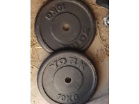 York cast iron 10kg discs, set of 2