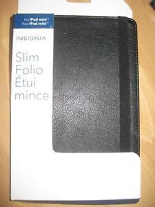 Insignia - Slim Folio Case for Apple iPad mini, iPad mini 2 and iPad mini 3 - Black. NEW