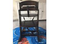 Brown BabyDan wooden high chair