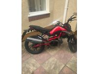 For sale Kymco k-pipe 50 derestricted, low mileage, semi automatic motorcycle