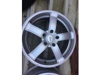 TEC Alloy wheels 17 inch VW Volkswagen Touareg transporter T5 T6 Vauxhall insignia alloys wheel