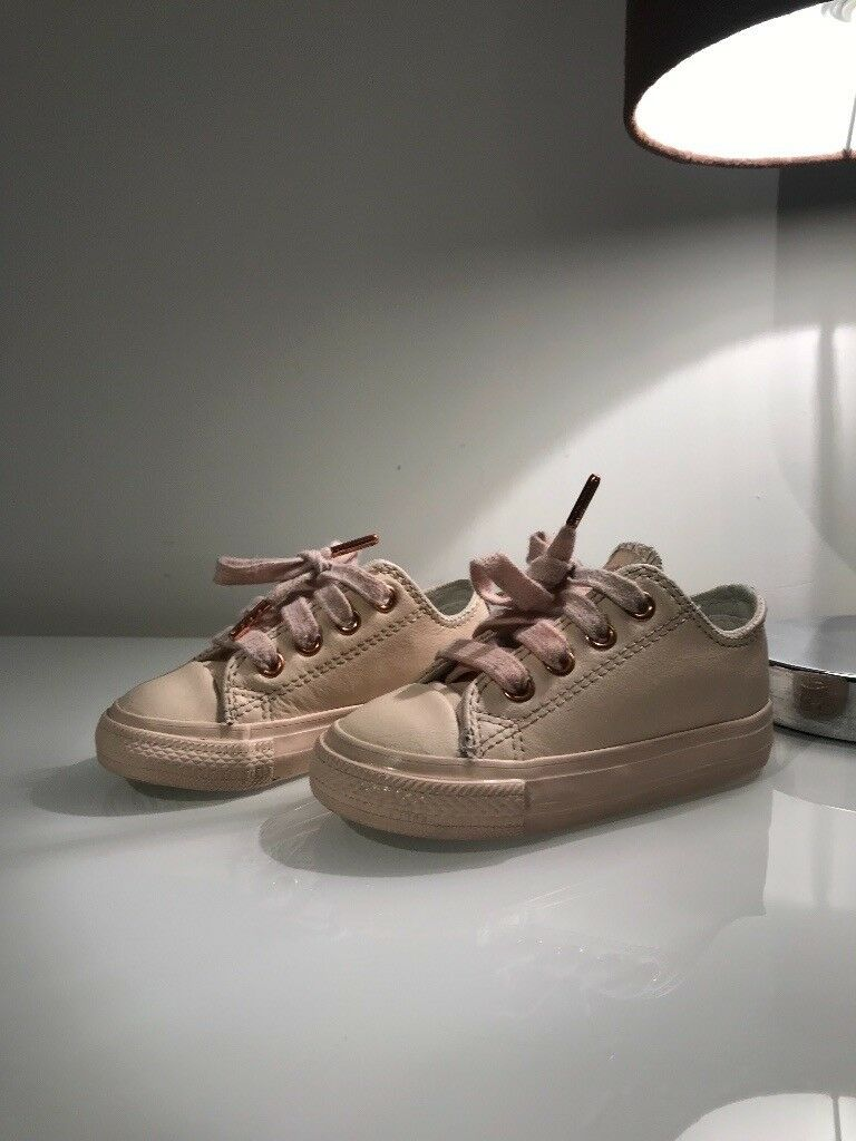 cf4bdeb24012 Converse All Star Ox Leather Infant Pastel Rose Gold Exclusive