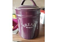 Bread bin purple large
