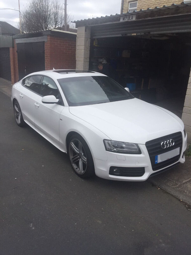 2011 audi a5 sportback s line tdi white black edition upgrades 5 door in batley west. Black Bedroom Furniture Sets. Home Design Ideas