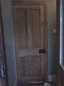 REDUCED!!!! TWO LOVELY OLD DOORS WITH ORIGINAL LOCKS ALSO ONE 10 & ONE 15 PANE DOOR