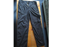 Veltuff Black Cargo Trousers size 38
