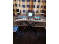 YAMAHA TYROS 4 ELECTRIC KEYBOARD (+ AKG D8 microphone + a stand, both included)