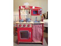 Children's wooden play kitchen