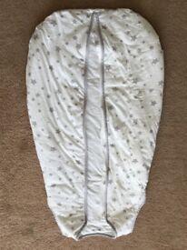 Silentnight Safe Nights 2.5 Tog Baby Sleep Bag, 6-18 Months, Grey Stars- NEW!!
