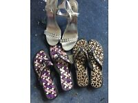 JOB LOT BRAND NEW women shoes 3 pairs sandals and evening heel size 5