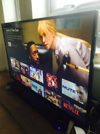 55 inch Smart TV with very good picture quality, built in freeview excellent