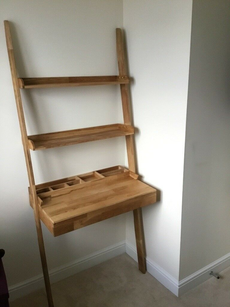 Oak Ladder Desk With Drawer Futon Company