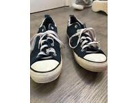 Blue Synthetic All Star Converse Size 8