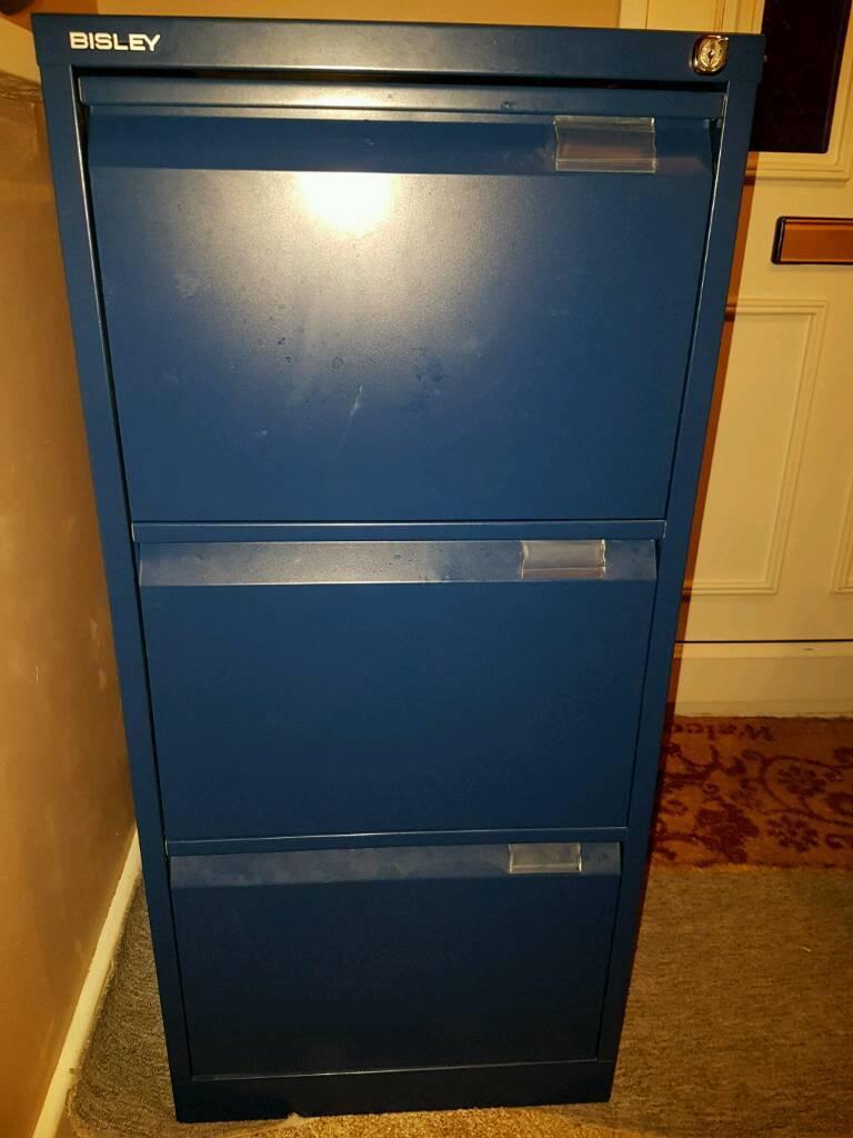 Bisley 3 draw filing cabinet