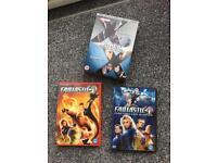 Xmen and fantastic 4 dvds