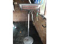 Electric freestanding patio heater