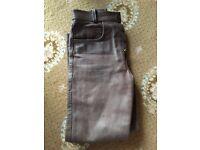 Ladies Brown Leather Trousers U.K. Size 10