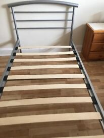 3' single silver bed frame
