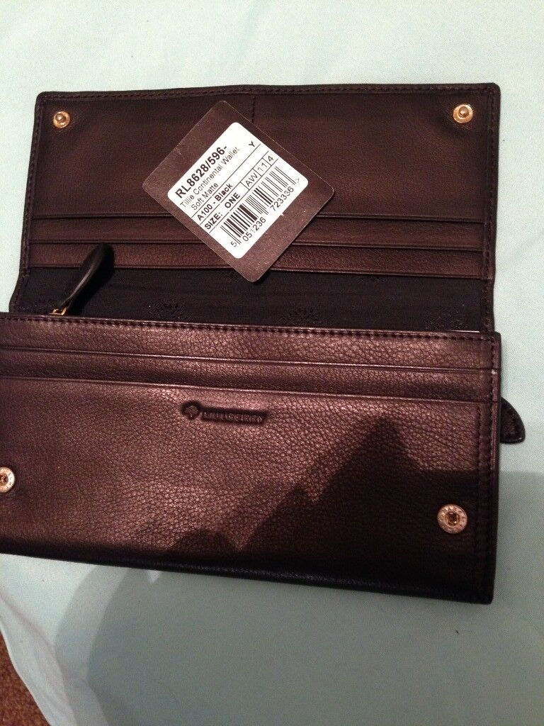 Mulberry leather brown ladies purse wallet new never used with labels ... 4d4915ef303ad