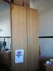 ALL ITEMS CLAIMED - free x2 wooden wardrobes, x2 bedside tables, x2 chest of drawers