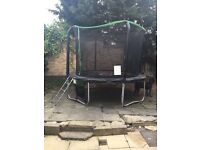"""10"""" big trampoline with steps and net- god condition"""